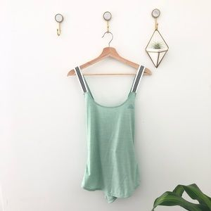 ADIDAS mint green exercise sport tank top large